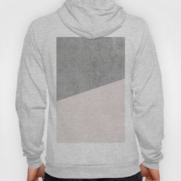 Concrete with Almost Mauve Color Hoody