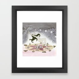 Witch at Work Framed Art Print
