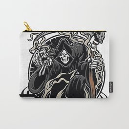Illustration of grim reaper on white background Carry-All Pouch