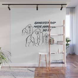 Gangster Rap Made Harambe Do It Wall Mural