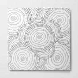 Onion Pattern Metal Print