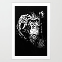 Chimp Art Print