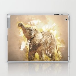 Elephant - It's Tea Time! Laptop & iPad Skin