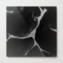 black & white abstract lightning design art Metal Print