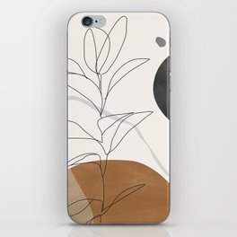 Abstract Art /Minimal Plant iPhone Skin