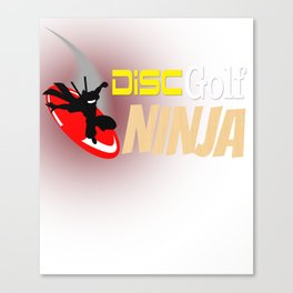 Disc Golf Ninja Funny Canvas Print