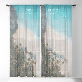 El Nido, Philippines Travel Illustration Sheer Curtain