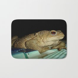 European Common Toad by Poolside At Night Bath Mat