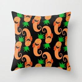 Spooky Carrot Designs Logo Throw Pillow