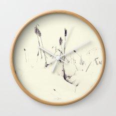 Winter Cattails Wall Clock