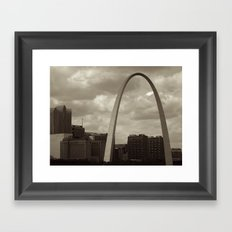 Stormy St. Louis Framed Art Print
