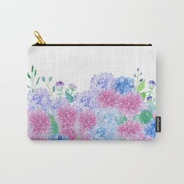 Watercolor Purple And Blue Hydrangeas Carry-All Pouch