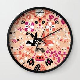 Bunny Lovers Wall Clock