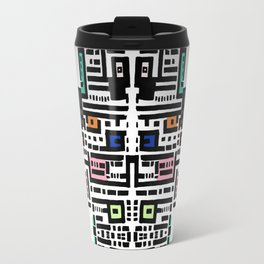 Urban cat affairs faced in a pattern Travel Mug