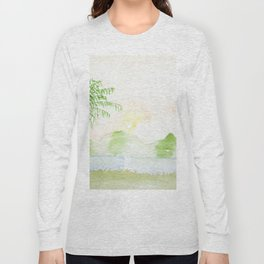 Palm tree in a sunset Long Sleeve T-shirt