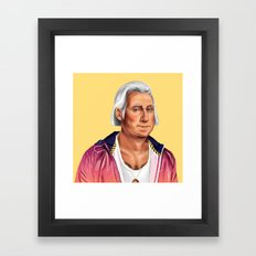 Hipstory -  George Washington Framed Art Print