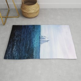 Sailing Ship on the Sea Rug