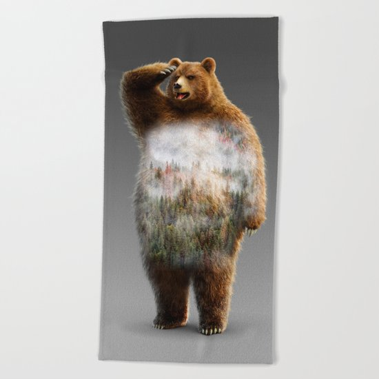 Chill Bear Beach Towel