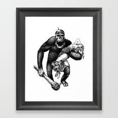 Mad Brute Framed Art Print
