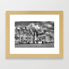 South Lookout Tower Aldeburgh Black and White Framed Art Print