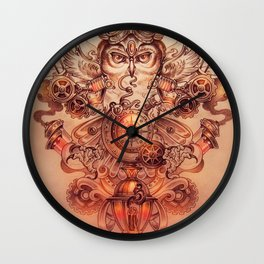 Voyager (Steampunk Owl) Wall Clock