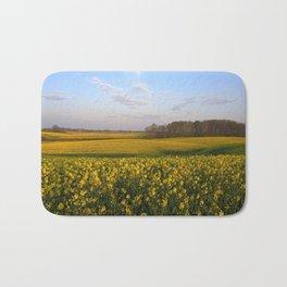Blooming in yellow 4 Bath Mat