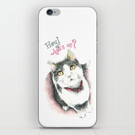 Hey! what's up? iPhone Skin