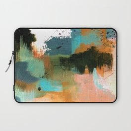 Walk With Me - an acrylic and ink abstract Laptop Sleeve
