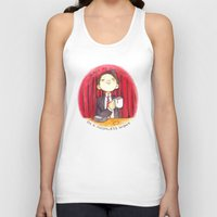 martell Tank Tops featuring Black as midnight on a moonless night by Space Bat designs