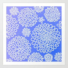 Periwinkle blue or purple Art Print