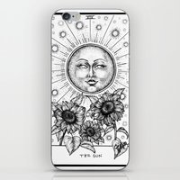tarot iPhone & iPod Skins featuring Sun Tarot by Corinne Elyse