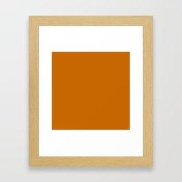 CINNAMON SOLID COLOR Framed Art Print