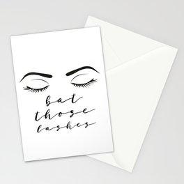 Fashion Illustration Eye Lashes Bat Those Lashes On Fleek Makeup Poster Fashion Art Girls Room Art Stationery Cards