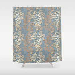 Gold Leaf Tangles Shower Curtain