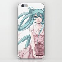 vocaloid iPhone & iPod Skins featuring Freedom by Tania Miguel