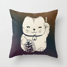 FORTUNE CAT Throw Pillow