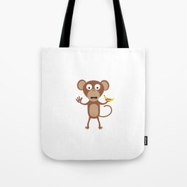 monkey with banana Tote Bag