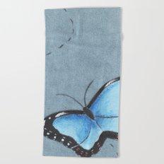 Sapphire Wings Beach Towel