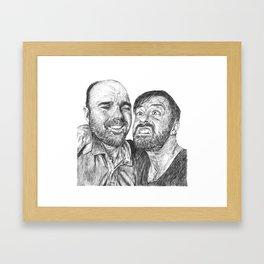 Karl Pilkington - Ricky Gervais, we need more of them! Framed Art Print