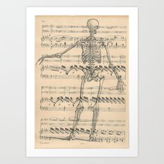 Nothing but bone Art Print