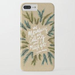 Mountains Calling – Kraft iPhone Case