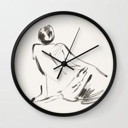 nude woman Wall Clock
