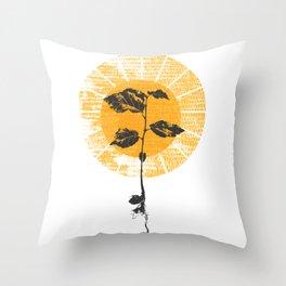 Sun Sprout Throw Pillow