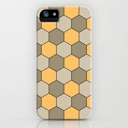 Honeycombs op art beige iPhone Case
