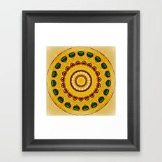 Golden Jewel with Emerald stones  Framed Art Print