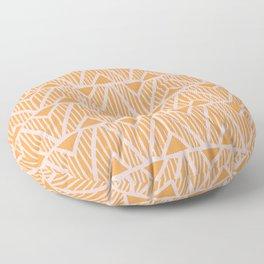mala, african tribal pattern tangerine Floor Pillow