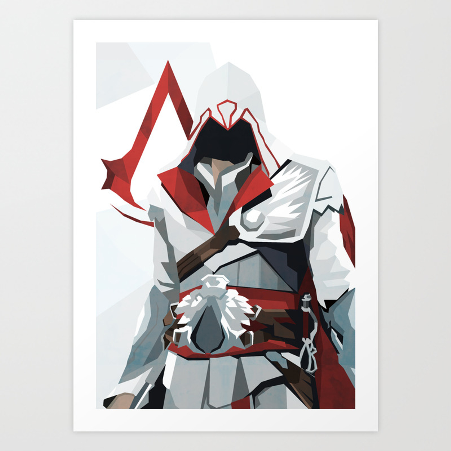 Geometric Brotherhood Inspired By Assassin S Creed Art Print By