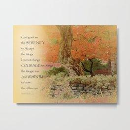 Serenity Prayer Autumn Harmony Metal Print