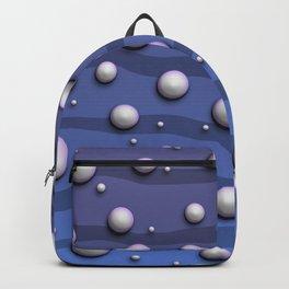 Alien Bubble Skin Blue Backpack