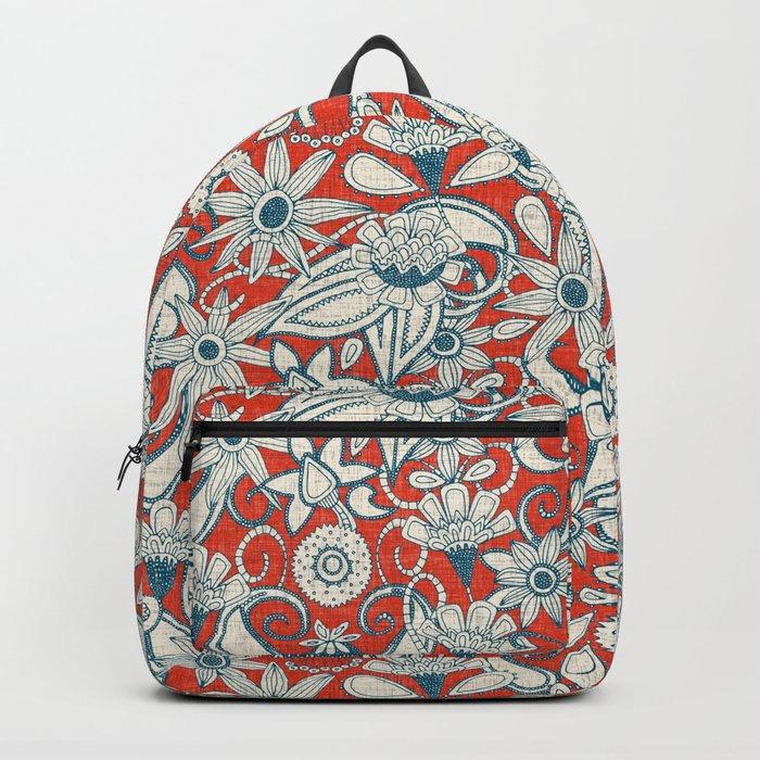 sarilmak fire orange blue Backpack